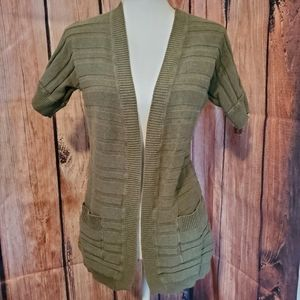 Green Ribbed Mossimo Cardigan